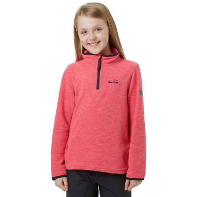 Pink Peter Storm Kids' Marly Half Zip Fleece Outdoor Clothing One Colour