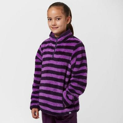 Purple Peter Storm Girls' Teddy Half Zip Fleece Outdoor Clothing One Colour