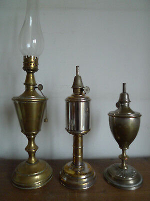 3 Anciennes Lampes A Essence Pigeon Calice Cylindrique Trianon Debut Xx Siecle