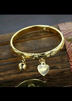 UK 18k gold filled BABY BANGLE anklet openable BOY GIRL 0-6 YEAR christmas GIFT