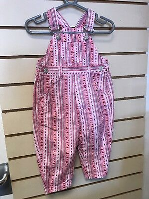 Girls Vintage Ladybird Dungarees Age 12-18m