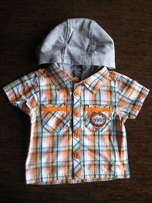 Boys' TU Orange Cotton Shirt with a Hood 6-9 Months NEW WITH TAGS Sainsbury's