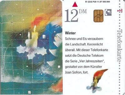 "Telefonkarten-Chipkarte-Deutschland ODS P29 11.97 ""Winter"""