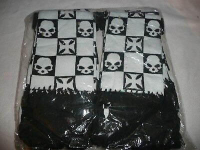 6 New Quality Thick Warm Winter Scarves.emo/goth/halloween.black/white Skulls