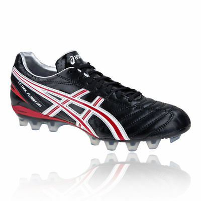 Asics Lethal Flash DS IT Moulded Rugby Boots Black/Fire Red/White UK 7