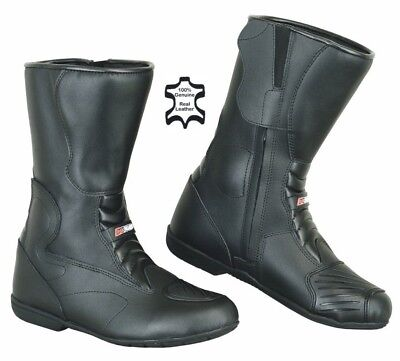 BLACK KYB® Waterproof Motorbike Boots LEATHER Motorcycle Biker Rider Boots Shoes