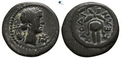 Savoca Coins Phrygia Laodicea Apollo Isis Crown Kithara 3,22 g / 17 mm #SAC8374