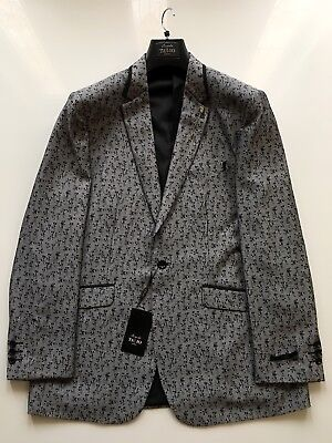 Men's Bespoke TAZIO uomo Fashion Grey Blazer, Italy Size: 48R