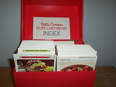 1971 Betty Crocker Recipe Card Library - Vintage Red Recipe Box -Full Of Recipes