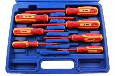 US Pro by Bergen 7pc VDE Insulated Electricians Screwdriver Set in Case 1606