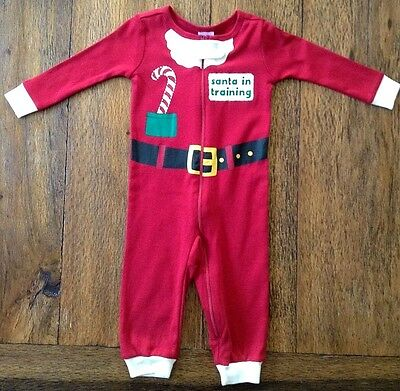 NWT Gymboree Gymmies SANTA IN TRAINING Suit Pajamas 1-Piece 6-12 Months 2T Red