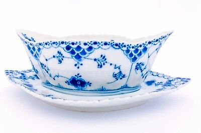 Sauceboat #1105 - Blue Fluted - Royal Copenhagen - Full Lace - 1st Quality