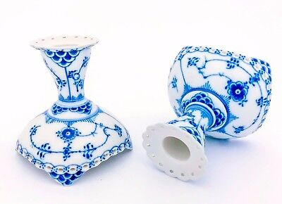 A pair of Candlesticks #1138 - Blue Fluted - Royal Copenhagen - 1:st Quality