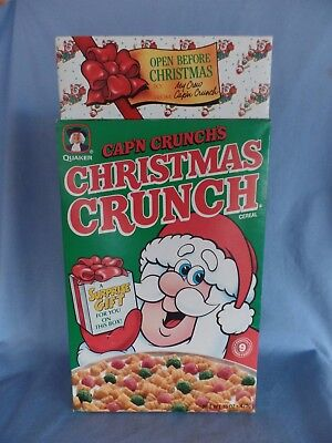 1991 CAP'N CRUNCH'S Christmas Crunch cereal box with GIFT full unopened