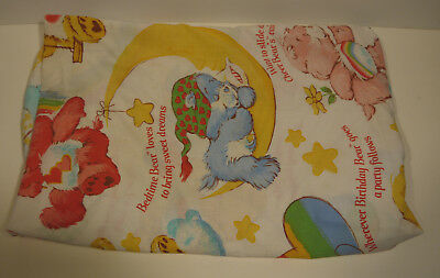 Vintage CARE BEARS Fitted Bed Sheet ( For Full Size Mattress )
