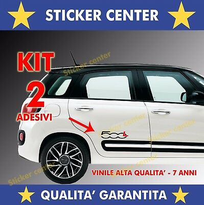 Kit 2 Adesivi Sportello Porta Door Fiancata Fiat 500L 500 L Bicolore Sticker