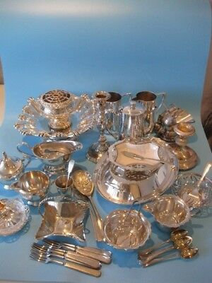 Really Nice Large Job Lot of Antique Silver Plate Items and Silver Plate Cutlery