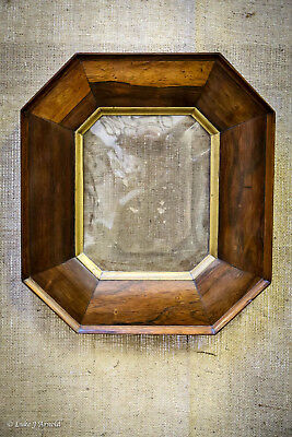 18th Century Rosewood Cushion Frame with Convex Glass