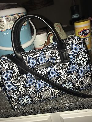 Vera Bradley Blue Sierra Triple Compartment Satchel (NWOT)