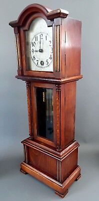 Antique Miniature 8 Day Hac  Longcase Clock Grandfather Clock In Working Order