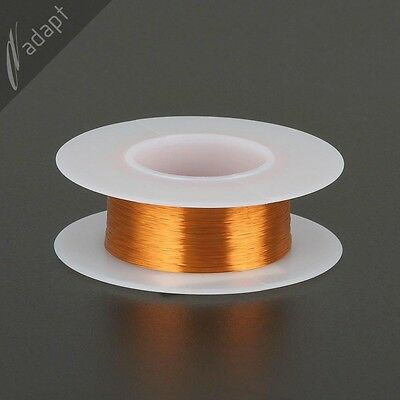 Magnet Wire, Enameled Copper, Natural, 38 AWG, Non-Solder, 200C, ~1/16lb. 1210'