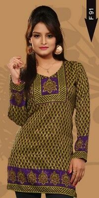 Beautiful French Crepe Tunic/Indian Kurti/Kurta/Bohemian Women's Top  e-1015