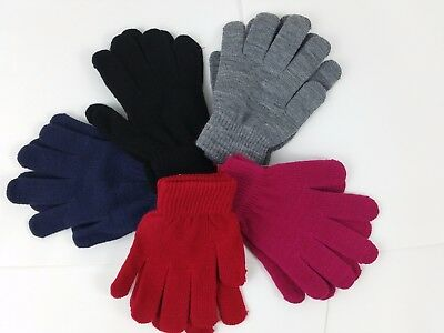 kids girls Boys Stretchy Magic Warm Winter Thermal Gloves nice and comfortable!