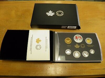 2015 Canada Silver Proof Set  with Leather Case  Pure 9999 Silver
