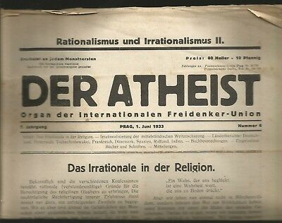 KPD SPD Anarchismus Der Atheist Internationale Freidenker Union Exil 1933