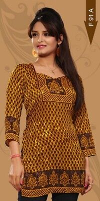 Beautiful French Crepe Tunic/Indian Kurti/Kurta/Bohemian Women's Top  e-1017