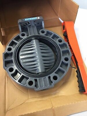 Hayward BY110800EL BY Series PVC Butterfly Valve with Lever Handle, EPDM Liner,