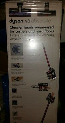 Dyson V6_Absolute Cordless Bagless Rechargeable Vacuum Cleaner in Fuchsia & Iron
