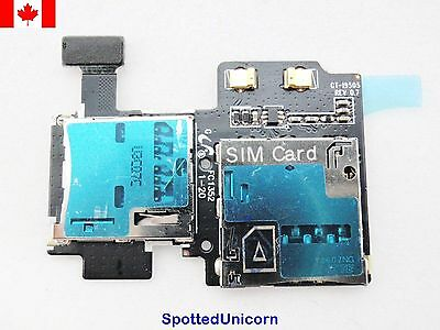 Samsung i9500 i9502 i9505 i9508 i959 i337 i545 New SD SIM Card Reader Flex Cable