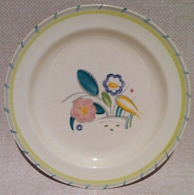 """Rare Collectable Vintage Art Deco Susie Cooper """"Nosegay"""" Dinner Plate"""