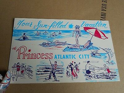 Vintage Post Card Princess Atlantic City