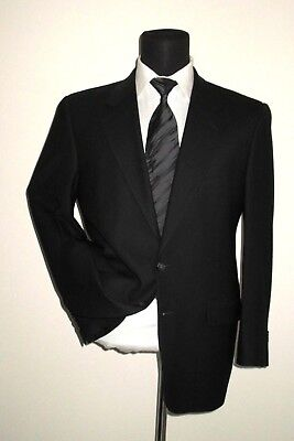 Joseph Abboud classic two button no vent black suit ~ 38 R