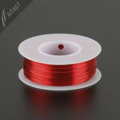 Magnet Wire, Enameled Copper, Red, 22 AWG (gauge), HPN, 155C, ~1/4 lb, 125 ft