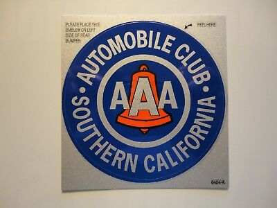 """2 Vintage Look Southern California Auto Club AAA Bumper Decal / Sticker. 3"""" NEW"""