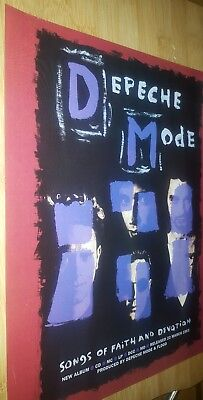 Collectable depeche mode magazine print ad for album songs of faith and devotion