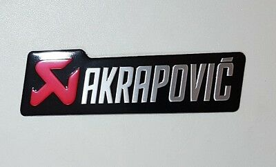 AKRAPOVIC Exhaust sticker - SILVER - METAL and Self Adhesive for all Bikes Race