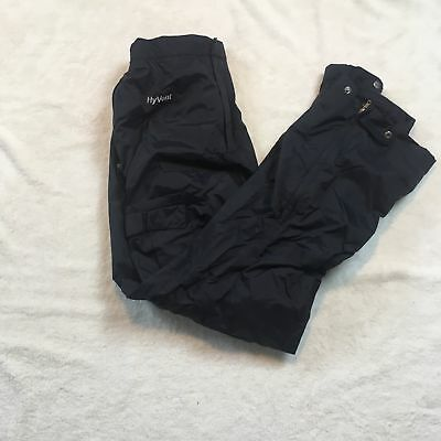 The North Face Men's Large Pants Hyvent Ski Lined Waterproof Black Ankle Zipper