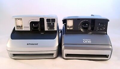 Lot of 2 Polaroid One 600 Instant Cameras - Tested & Working!