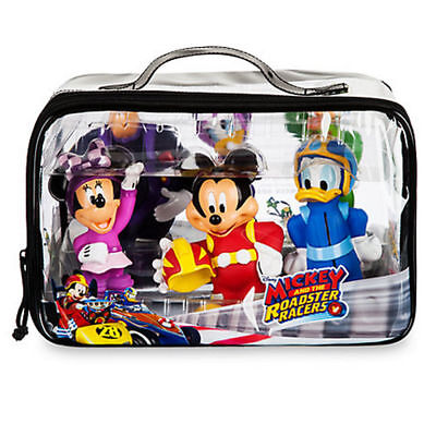 Genuine Disney Mickey And The Roadster Racers Bath Gift Set - 6 Figures + Bag