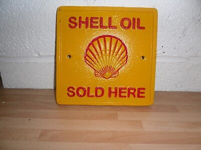 Cast Iron Shell Sign Plaque