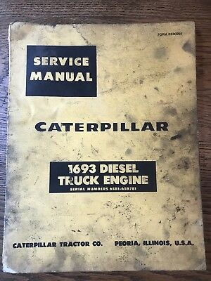 Caterpillar CAT 1693 Diesel Truck Engine Repair Service Manual