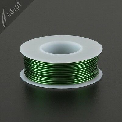 Magnet Wire, Enameled Copper, Green, 18 AWG (gauge), 155C, ~1/4 lb, 50 ft