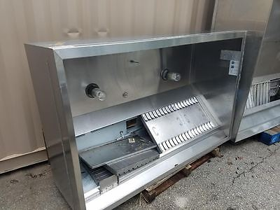 6Ft Captive Aire Hood System Complete W/ Makeup Air/exhaust Fan/ Fire Supression