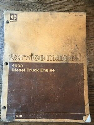 (CAT) Caterpillar 1693 Diesel Truck Engine Service Manual ( #SEBR0505)