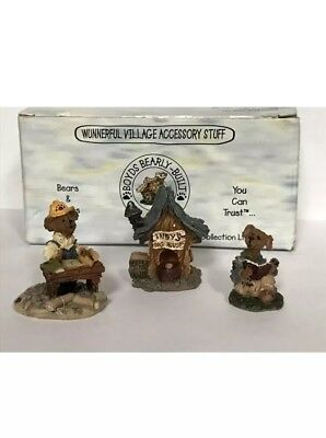 Boyds Bearly-Built Villages~ACCESSORIES for MATTHEW'S BUNGALOW~Town Builder
