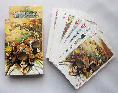 Attack on Titan ... Poker Spiel Karten Set playing trading cards manga cosplay